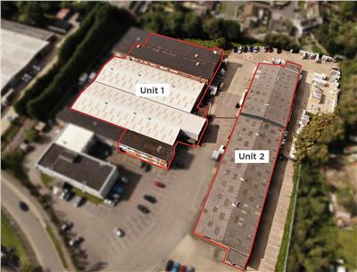 Extensive manufacturing and warehousing facility with associated yard areas